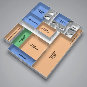 AlohaNAP Hawaii Data Center 3D Floor Plan